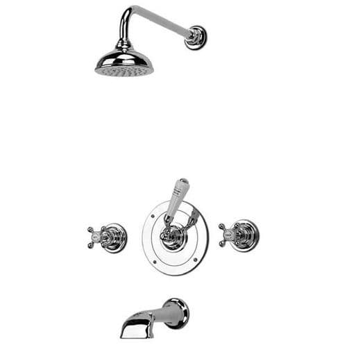 3452SET Barber Wilsons Concealed 5-hole Bath / Shower Mixer Tap, With Arm And Rose