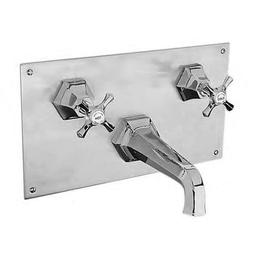 MC3460 Barber Wilsons Mastercraft Concealed Wall Mounted Bath Mixer Tap On Rectangular Wall Plate