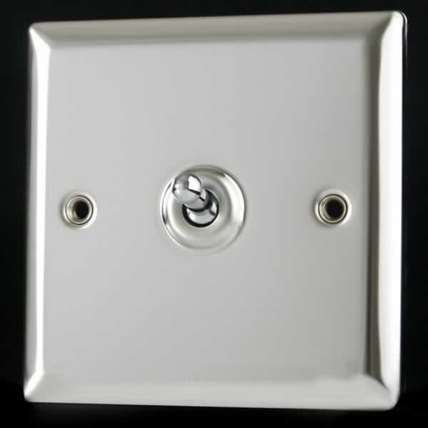 Varilight XC8S classique miroir chrome 1 gang Type F Satellite Socket