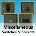 Antique Georgian Brass - Miscellaneous Switches and Sockets
