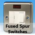 Brushed Matt Chrome - 13 Amp Fused Spur Switches