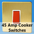 Screwless Brushed Brass - 45 Amp Cooker Switches