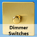 Screwless Brushed Brass - Standard Dimmer Switches