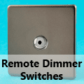 Screwless Pewter - Remote Dimmer Switches