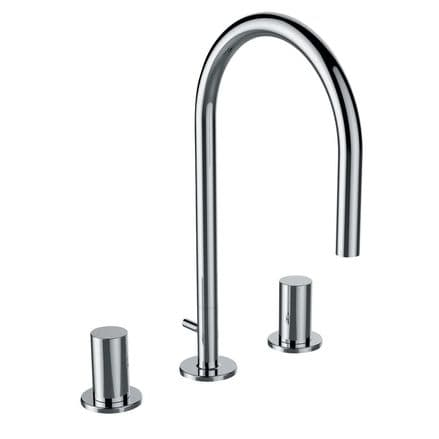 312333 - Laufen Kartell 3-Hole Basin Mixer With Swivel Spout - 3.1233.3