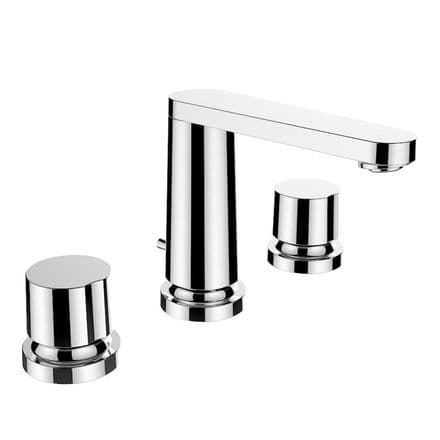 312853 - Laufen The New Classic 3-Hole Basin Mixer Tap with 130mm Spout - 3.1285.3