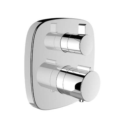 333756 - Laufen City Plus Concealed Twin-Handled Thermostatic Shower Mixer - 3.3375.6