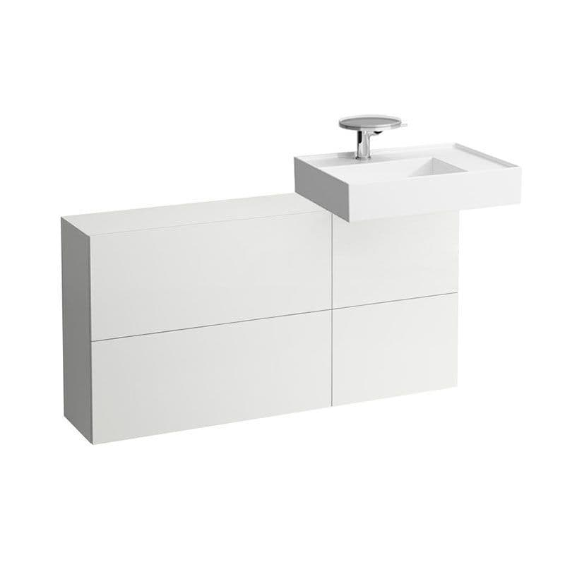 810334 - Laufen Kartell 600 x 460mm Washbasin with Right Shelf & 1200mm Sideboard (Right)- 8.1033.4