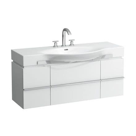 812704 - Laufen Palace 1200mm x 510mm Washbasin With Towel Rail & Vanity Unit - 8.1270.4
