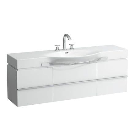 812706 - Laufen Palace 1500mm x 510mm Washbasin with Towel Rail & Vanity Unit - 8.1270.6