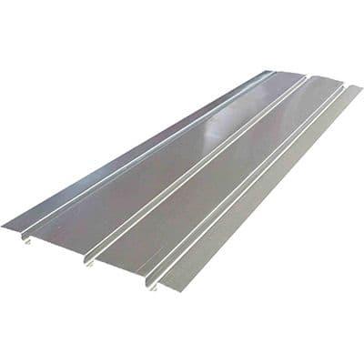 Aluminium Spreader Plate 390mm x 1000mm - 3 Groove (133mm Centres)