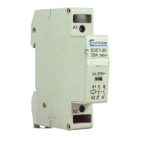 Europa N/O 20A 230v Twin Pole Contactor