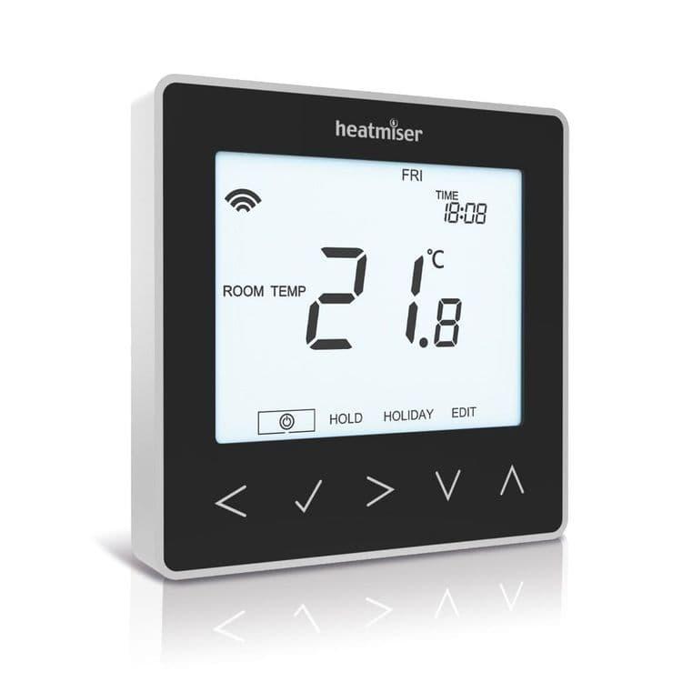 Heatmiser neoStat-e  Electric Floor Heating Thermostat - Sapphire Black