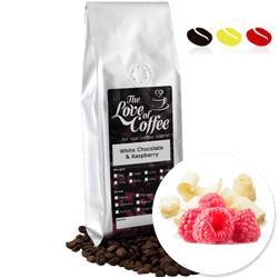 White Chocolate and Raspberry Flavoured Coffee | Flavoured Coffee | FREE Standard Delivery On Orders Over £25
